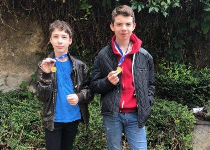 Des champions d'escalade au collège de Billom