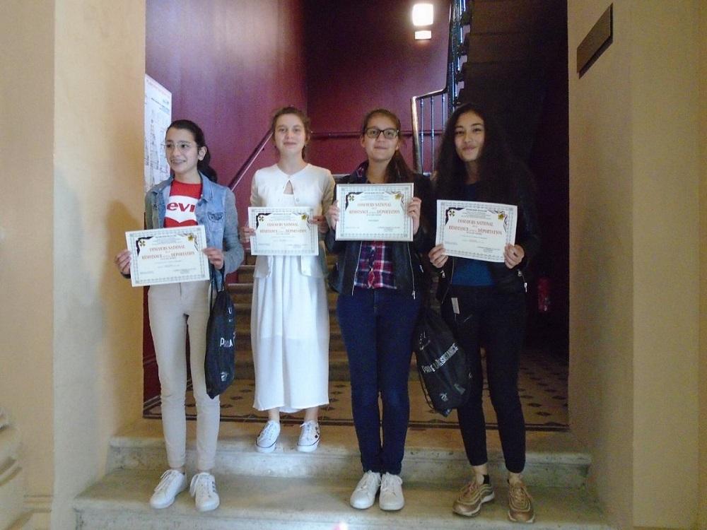 Les élèves de 3° de Sainte Jeanne d'Arc distingués