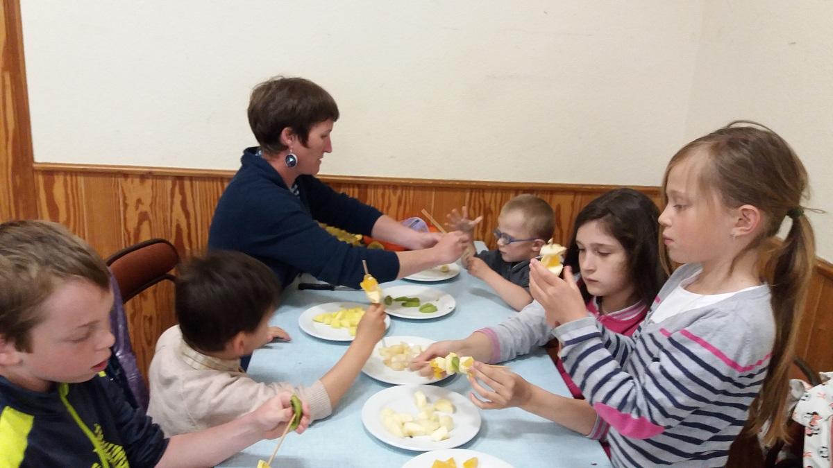 Fraternité et coopération à l'école St Joseph de Sauvessanges