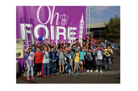 L'école de Maringues en visite à la foire internationale de Clermont-Cournon