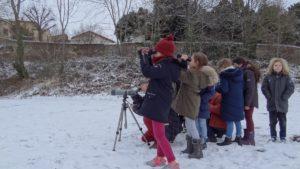 Les écoliers de Billom à la découverte des oiseaux avec la LPO