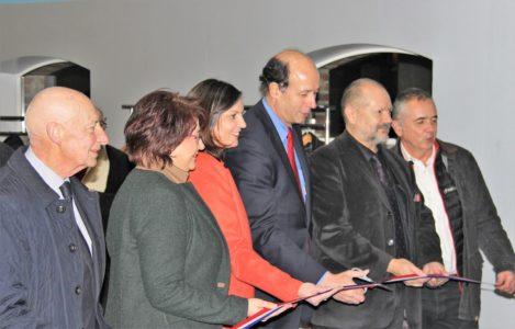 Inauguration d'une nouvelle salle polyvalente et de sport à Ste Thècle