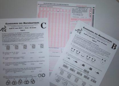 Concours KANGOUROU des Mathématiques – Ste Thècle