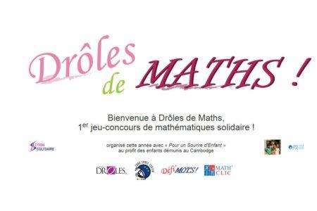 """Concours de mathématiques national """"drôle de maths"""" en faveur d'associations – Maringues"""