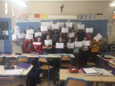 Jeunes secouristes à l'école de Thiers