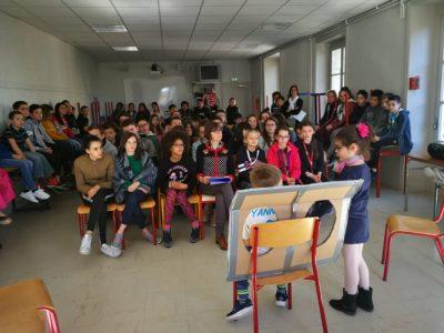 La classe de CE1 de Notre Dame  Billom a donné sa dernière représentation