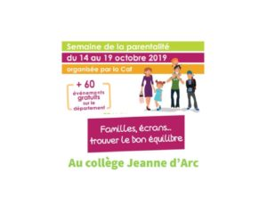 Semaine de la parentalité – Collège Jeanne d'Arc, St Eloy les Mines