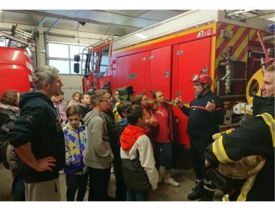 En visite à la caserne des pompiers – ensemble scolaire St Joseph, Maringues