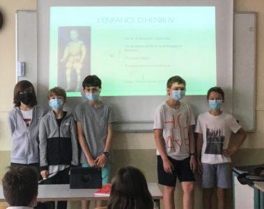 Préparation à l'oral en classe de Cinquième