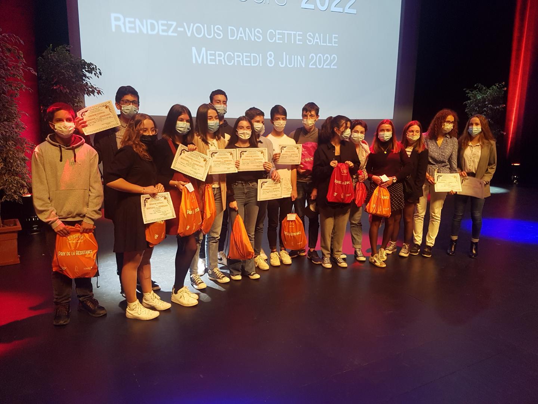 Remise des prix du concours national de la résistance pour les 3e de l'Institution Saint Pierre